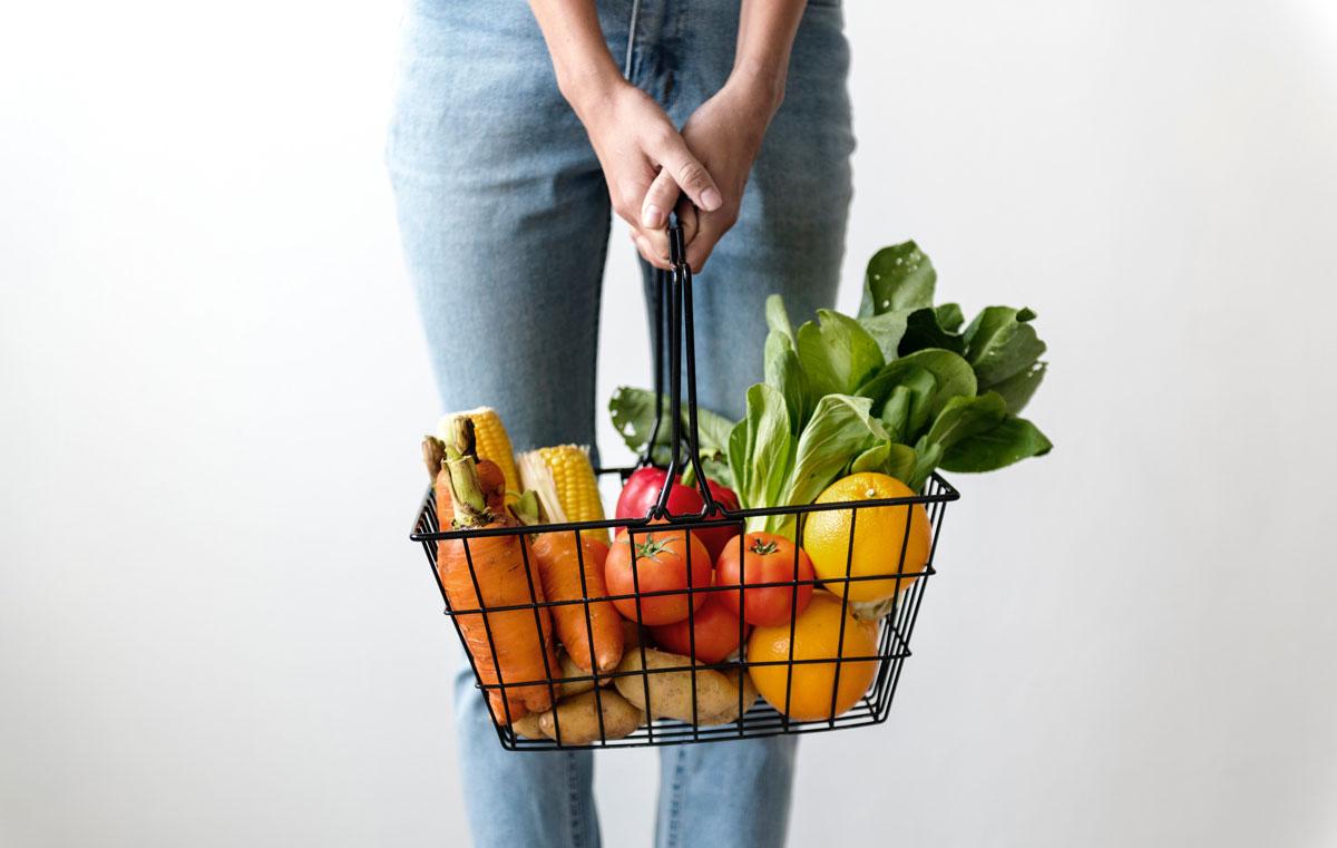panier epicerie legume
