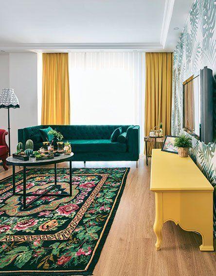 Triadique vert rose jaune