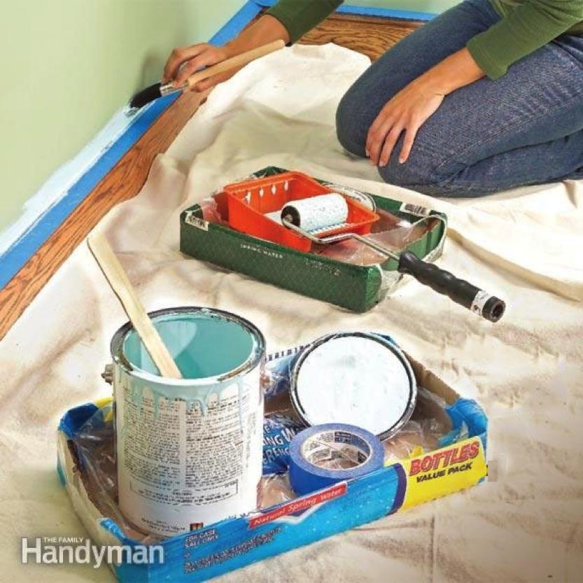 fond de boites pour outils de peinture