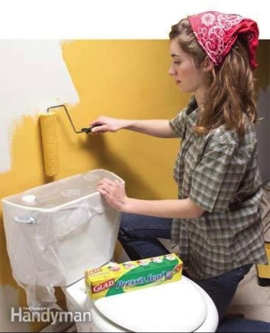 Pellicule de plastique pour protection peinture