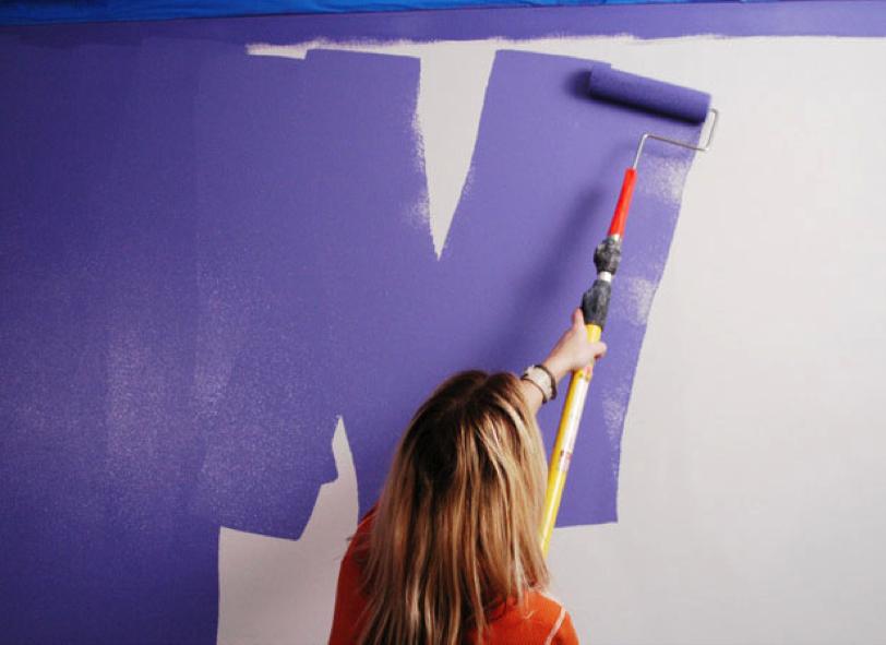 Technique de peinture en w zigzag