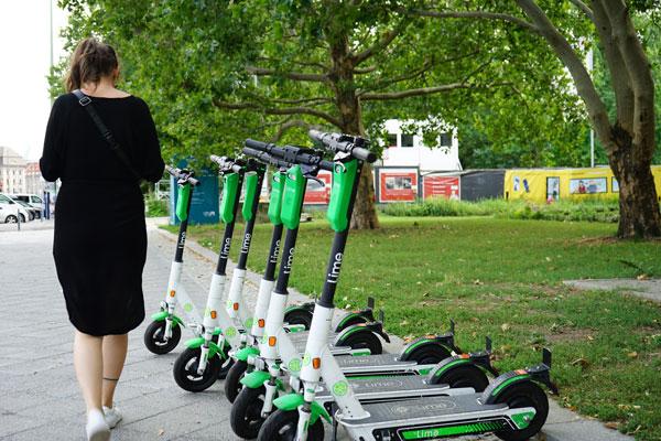 Moyens de transport pour réduire empreinte écologique