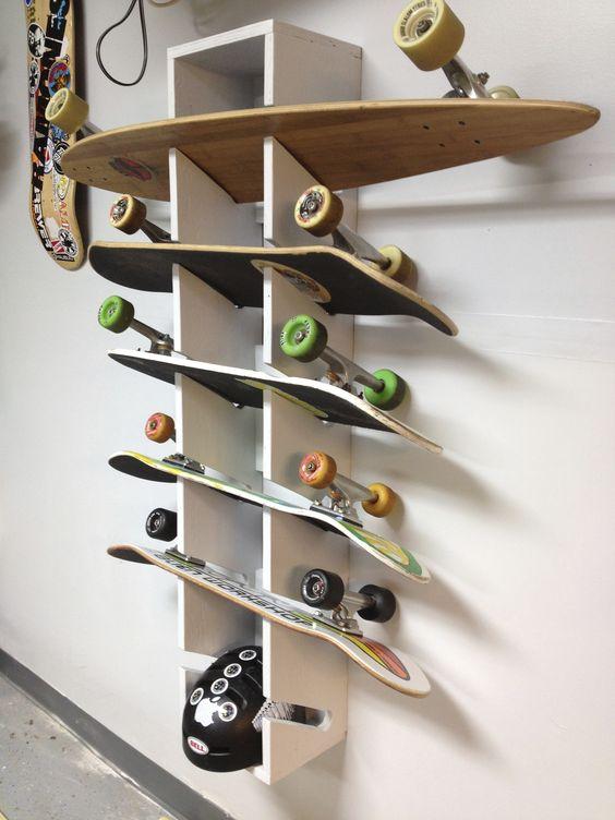 rangement skateboard