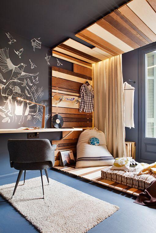 Style de lit bois