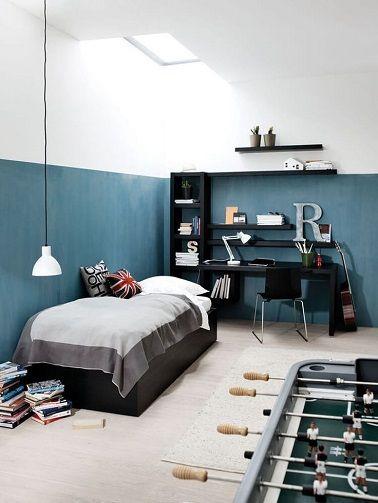 Style de lit demi-mur