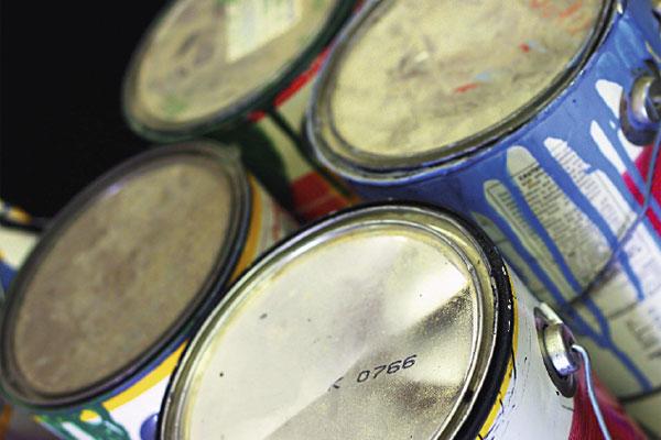 contenant de peinture recyclage
