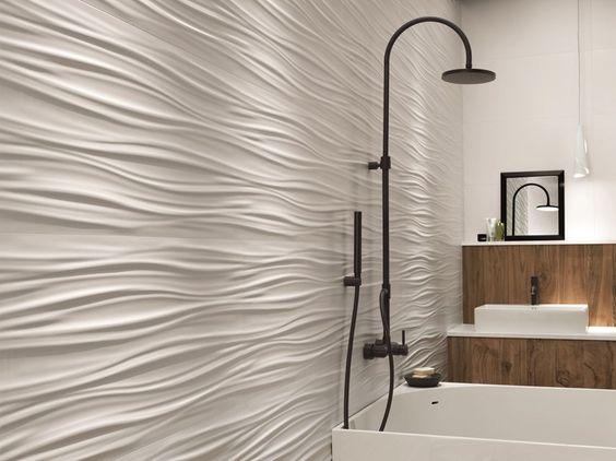 mur 3d blanc