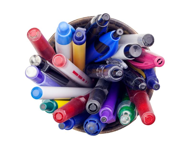 recyclage des crayons et des stylos usagés