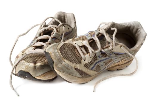 recyclage des vieux souliers
