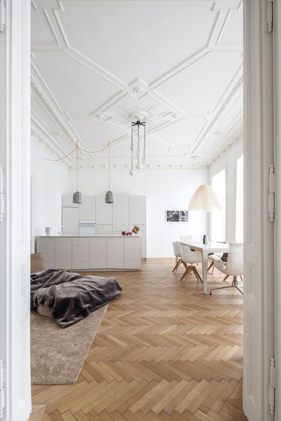 rosace plafond blanc
