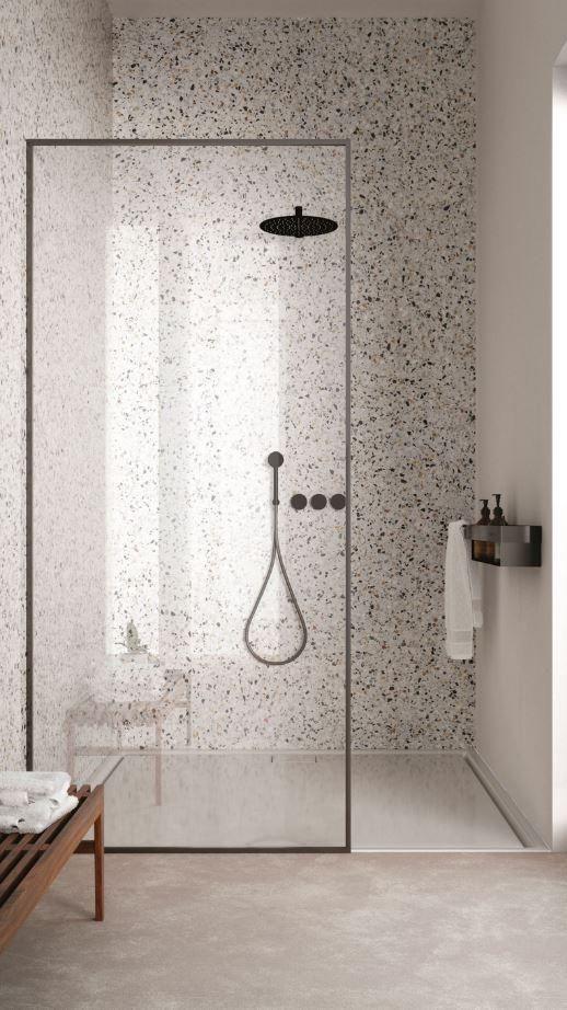 porte en vitre salle de bain