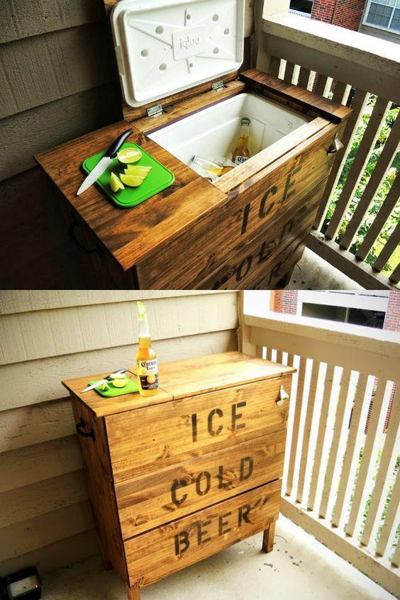 fabriquer une glacière avec un vieux meuble