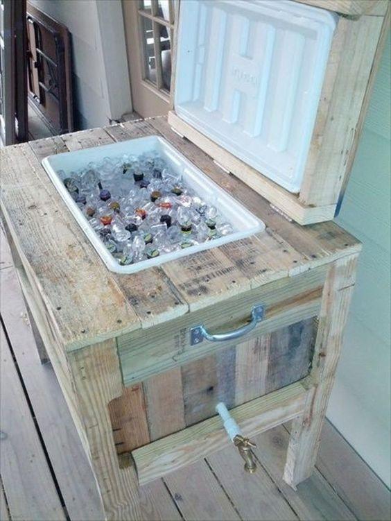 fabriquer une glacière dans un meuble de bois