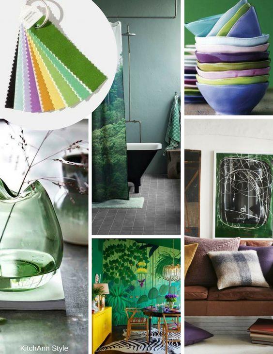 peinture teintes de vert