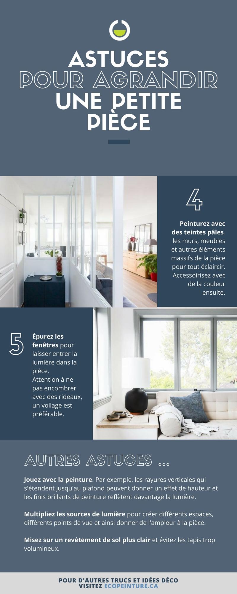 agrandir une petite pi ce 5 astuces pour d corer un. Black Bedroom Furniture Sets. Home Design Ideas