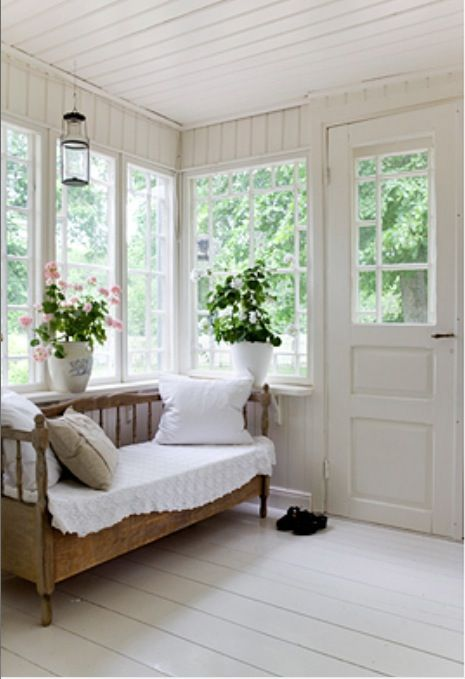 banc en bois veranda