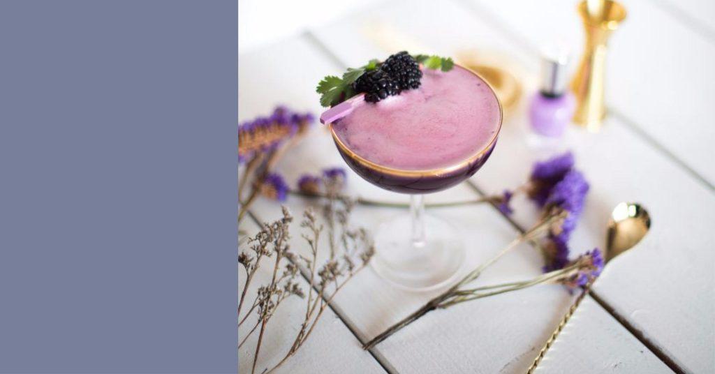 cocktails originaux mauve