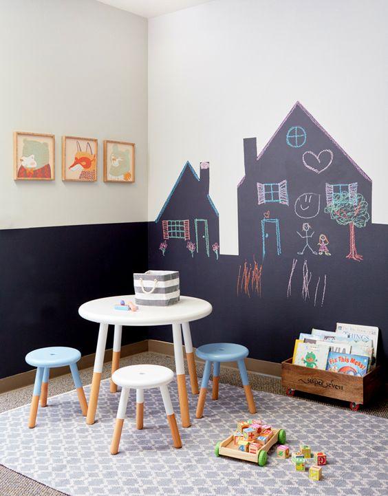 peinture tableau maison enfant salle de jeux