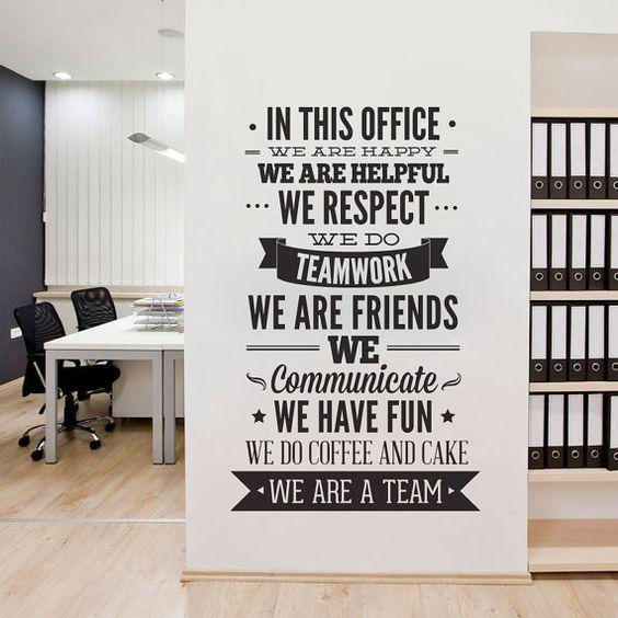 texte mur bureau