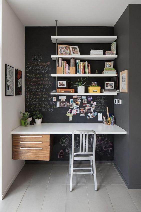mur bureau avec peinture tableau