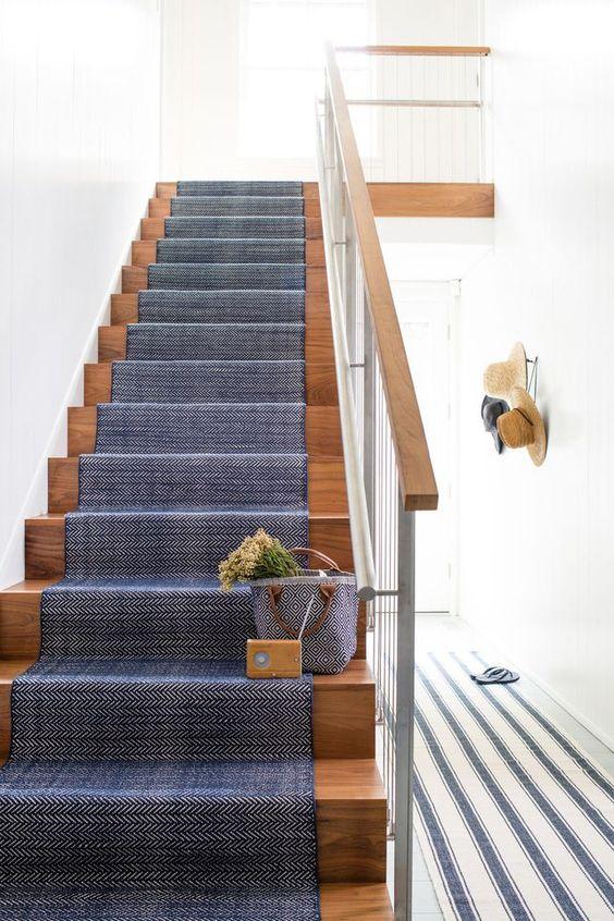 tapis marine escalier