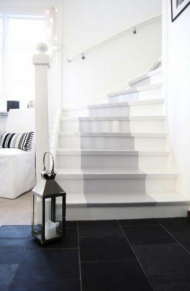 bande de couleur escalier