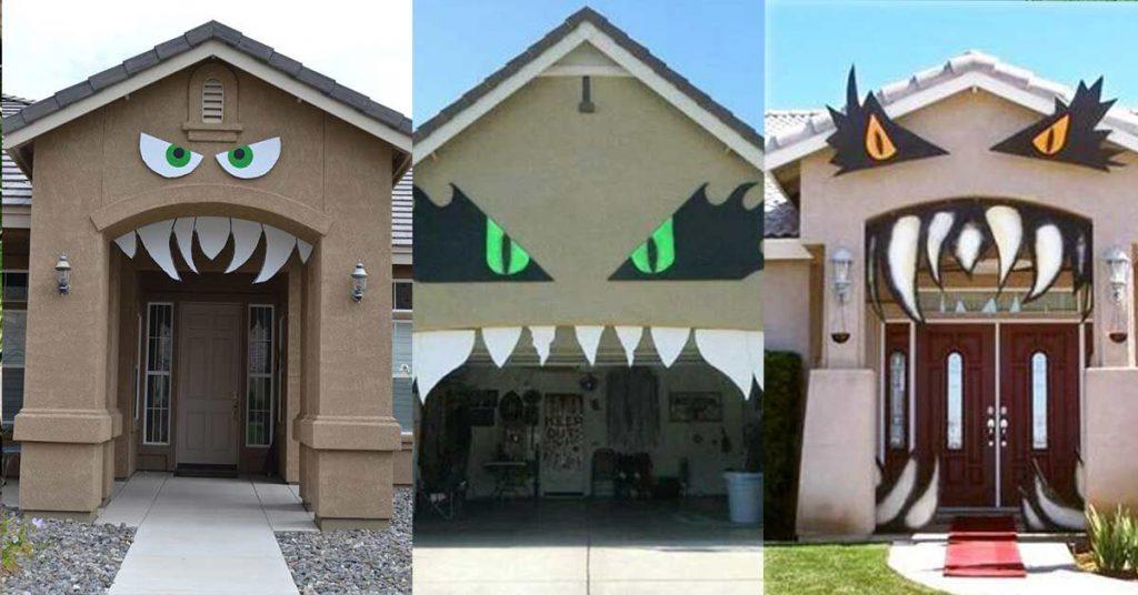 maison décor carton DIY Halloween
