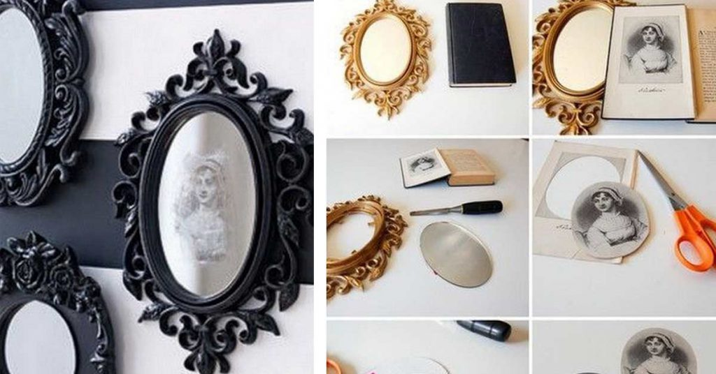 mirroir diy d'Halloween