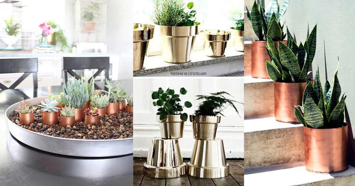 peinture aerosol pot à plante