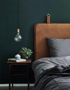 vert forêt tendance couleur 2018 pour chambre à coucher