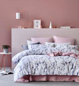 tendance couleur 2018 chambre à coucher le rose