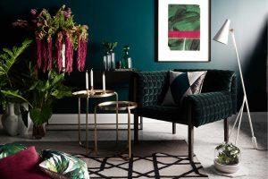 tendance couleur salon vert émeraude