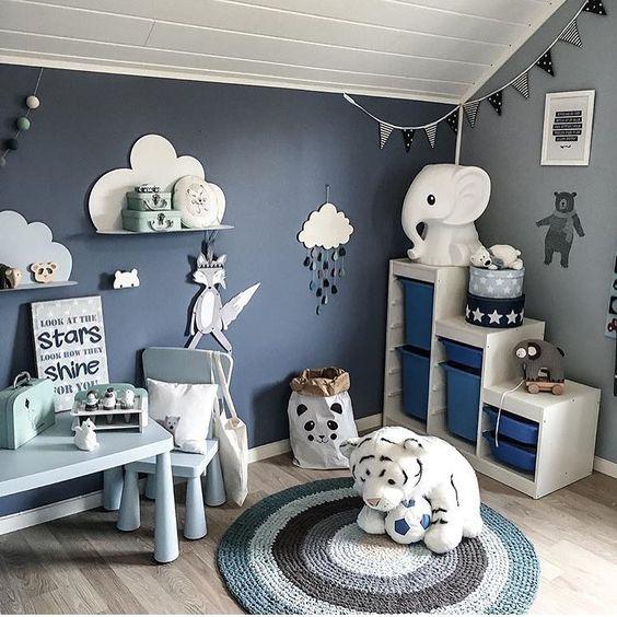 6 inspirations pour la d co de chambre de b b gar on. Black Bedroom Furniture Sets. Home Design Ideas