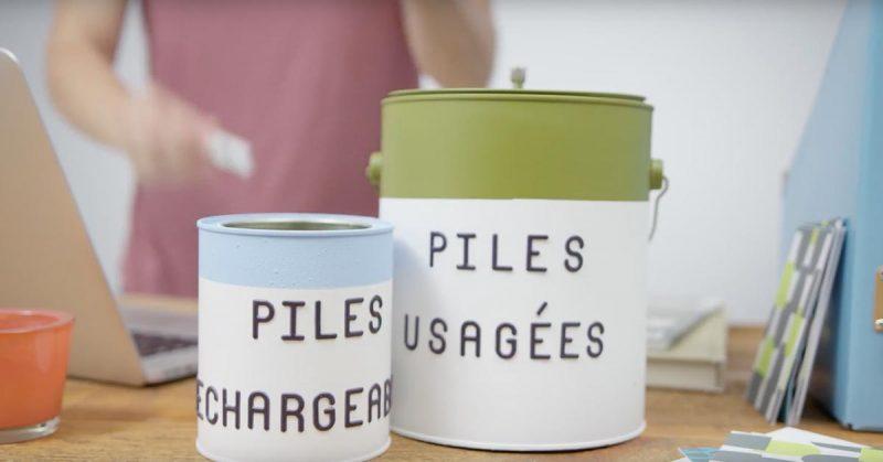 TRUC BRICO – Créer un contenant pour recycler les piles