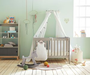 deco chambre de bébé garçon vert menthe