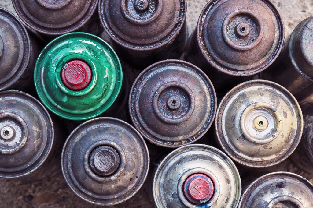 Aérosols de peinture recyclables