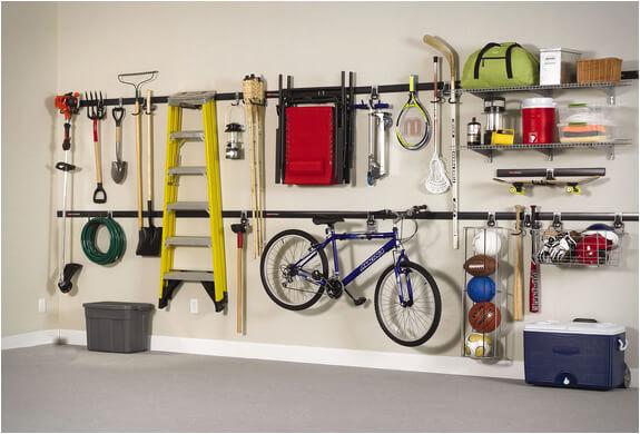Utilisation du mur pour l'aménagement d'un garage