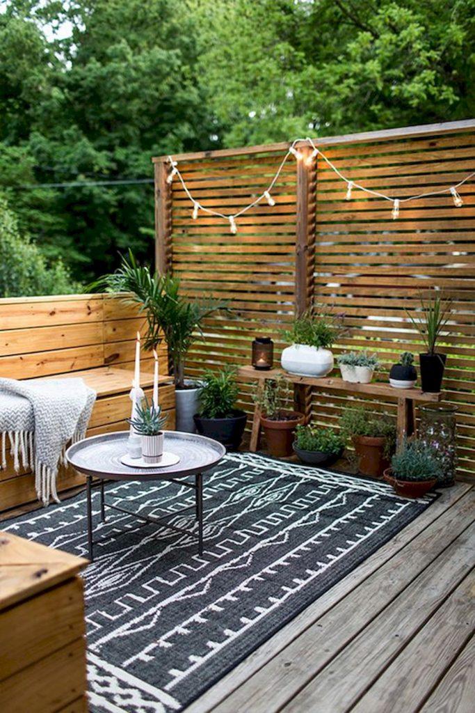 Plusieurs couleur de patio avec teintures