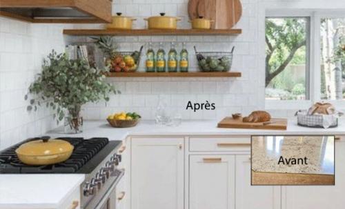 3 idées pour transformer son comptoir de cuisine (sans le remplacer!)