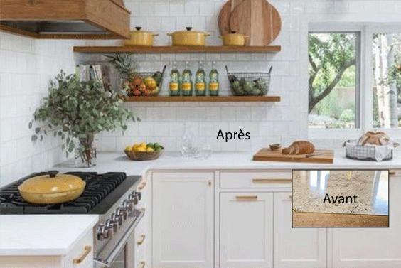 3 id es pour transformer son comptoir de cuisine sans le remplacer - Comptoir pour cuisine ...