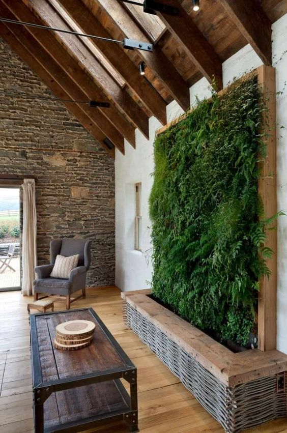 mur vegetal salle familiale