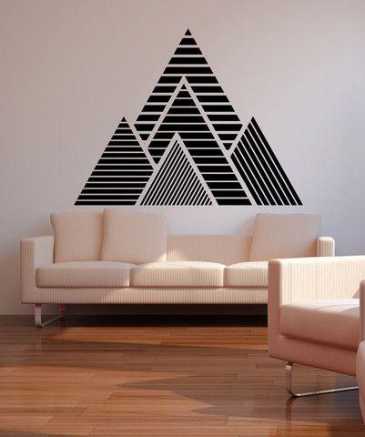 triangles autocollant mural