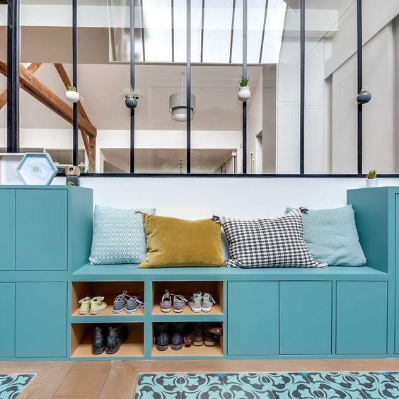 meuble turquoise