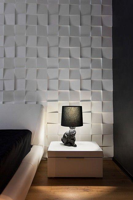 mur 3d forme carre