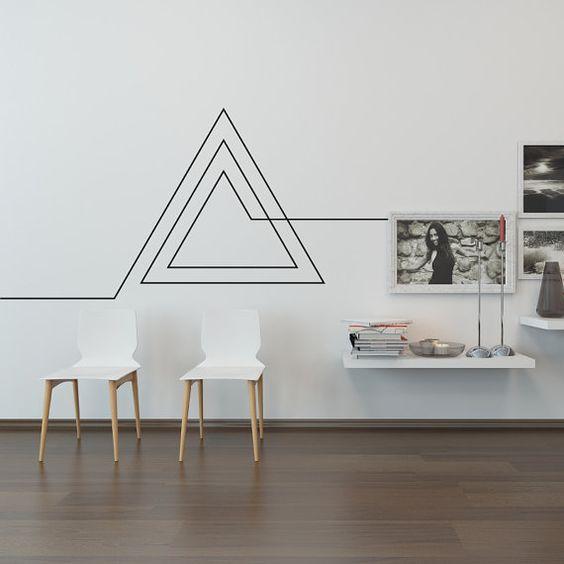 autocollant vinyle triangle