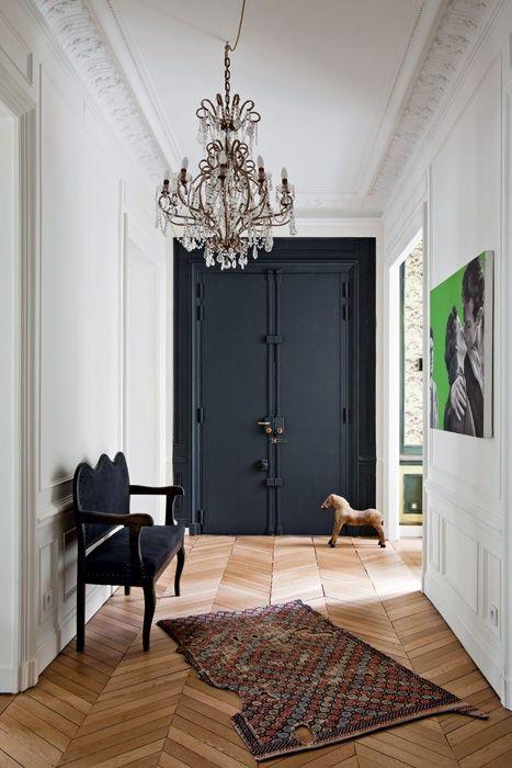 porte entree noire