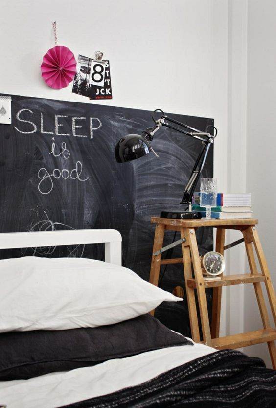 tete de lit peinture a tableau