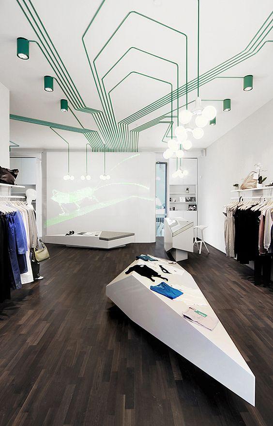 vinyle plafond vert et blanc