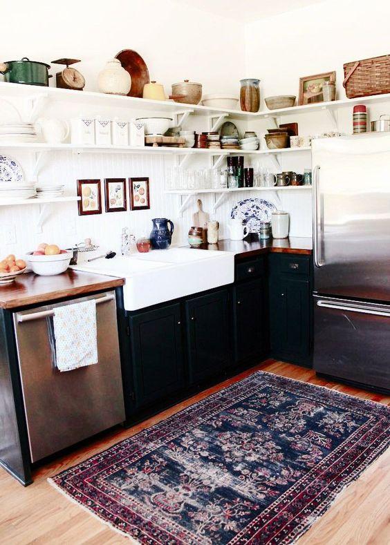 tapis avec motifs cuisine