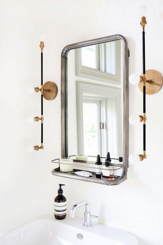 luminaire en tuyau salle de bain